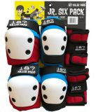 Chrániče 187 Killer pads Jr. Six Pack Red Blue
