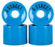 Longboard kerekek D Street Wheels 59 Cent 78A blue (4db)