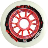 Kolečka na brusle Atom Matrix 80mm 86A (8ks) red