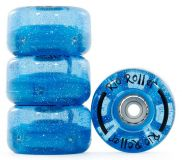 Kolieska na dvojradové korčule Rio Roller Light Up Wheels 58mm 82A Blue Glitter (4ks)