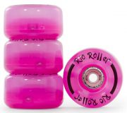 Roţi patine cu rotile Rio Roller Light Up Wheels 58mm 82A Pink Frost (4buc)