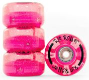 Kolieska na dvojradové korčule Rio Roller Light Up Wheels 58mm 82A Pink Glitter (4ks)