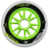 Kolečka na brusle Atom Matrix 110mm 86A (1ks) green