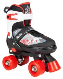 Dvojradové korčule Rookie Adjustable Skate Ace Junior Black/Red