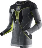 Termoprádlo Apan Merino By X-Bionic Fastflow Shirt Men Grey / Yellow