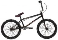 BMX Colony Emerge 20 inch 2021 BMX Freestyle Bike Gloss Black / Grey Camo Tyres