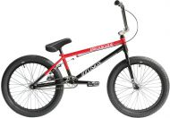 BMX Division Brookside 20 inch 2021 BMX Freestyle Bike Black / Red Fade
