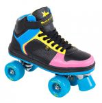 Rookie Hype Hi Top Trainer Black Blue Pink Yellow