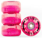 Rio Roller Light Up Wheels 58mm 82A Pink Glitter (4ks)