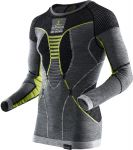 Apani Merino By X-Bionic Fastflow Shirt Men Grey / Yellow