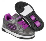 Heelys X2 Plus X2 Lighted Black Sparkle / Purple
