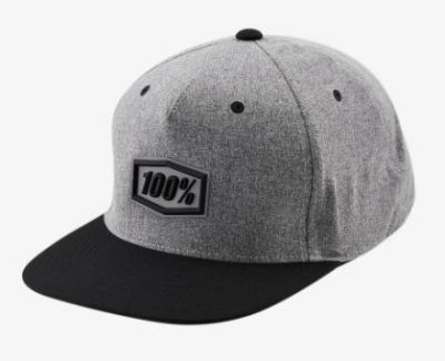 100% Enterprise Snapback Hat Gunmetal