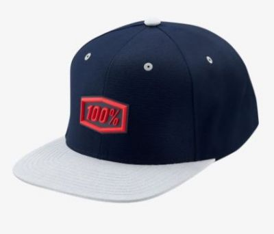 100% Enterprise Snapback Hat Navy