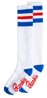 Rookie Socks 20'' Knee High White/Blue/Red