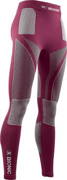 X-Bionic Energy Accumulator 4.0 Pants Long Woman Plum/Pearl Grey